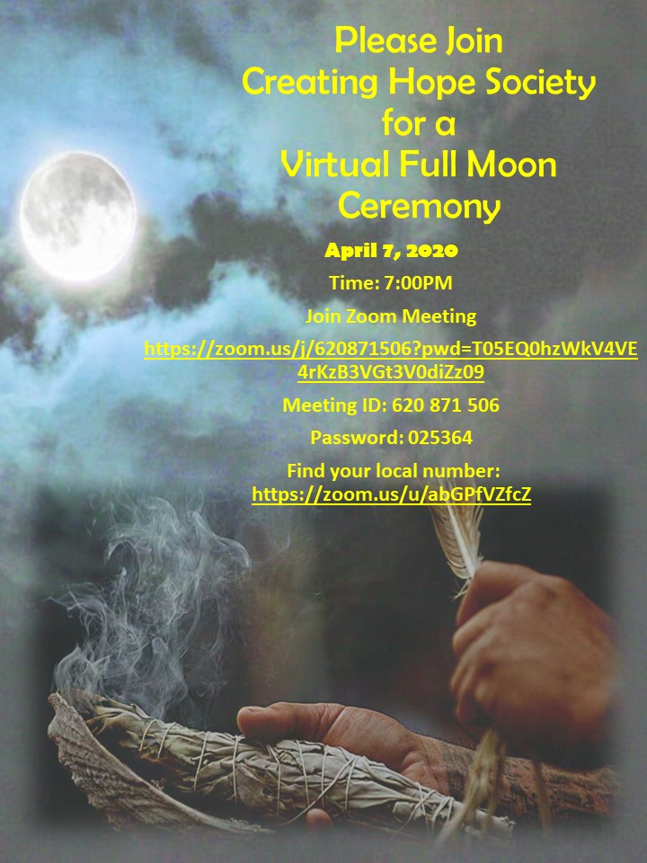 Virtual Full Moon Ceremony Full moon ceremony April 7 2020