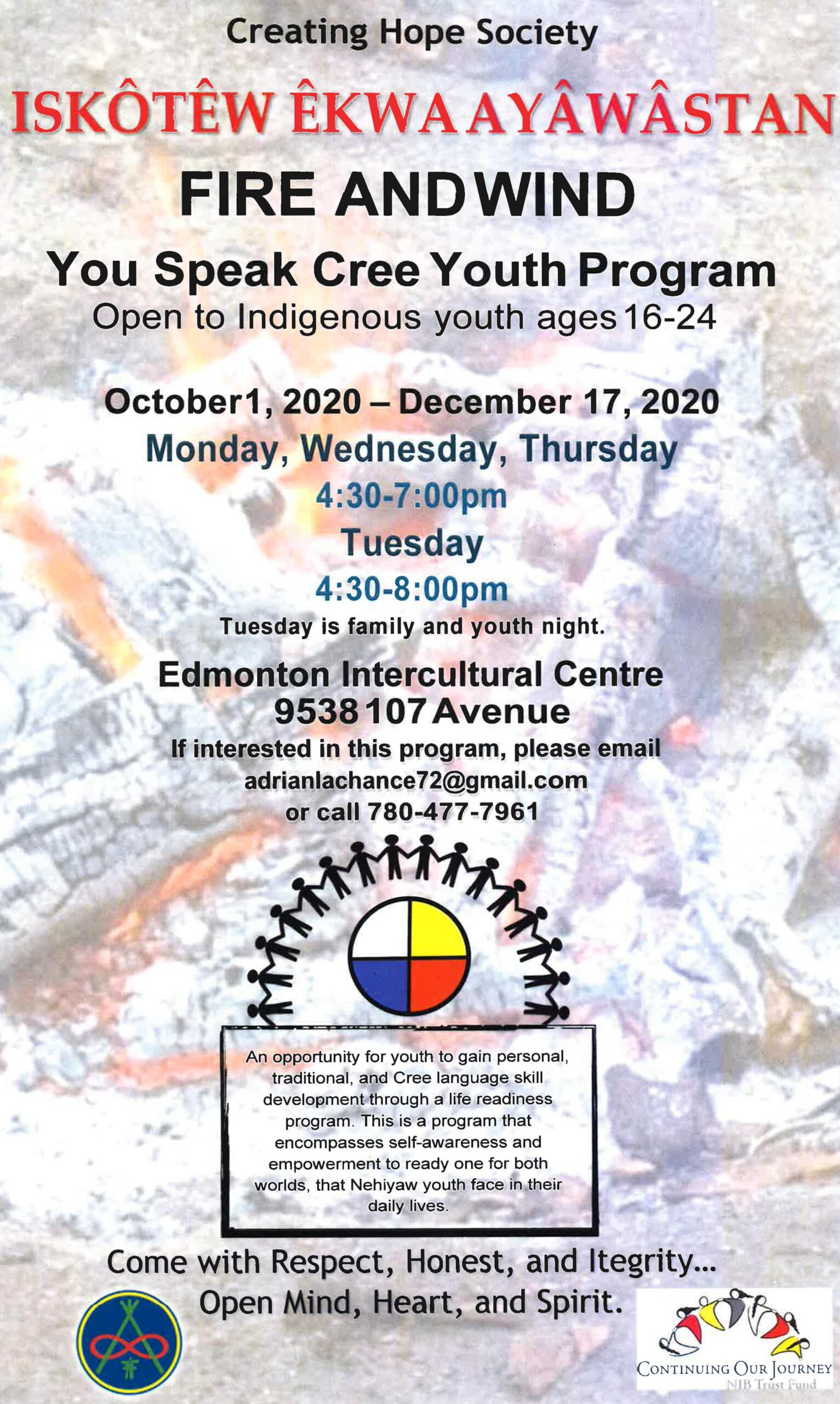 You Speak Cree Youth Mentorship Program Fire and Wind Poster 1 min scaled